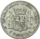 Photo numismatique  MONNAIES MONNAIES DU MONDE ESPAGNE GOUVERNEMENT PROVISOIRE (1868-1871) 5 pesetas de 1870.